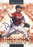 Brandon Puffer Round Rock Express - Astros Affiliate 2002 Donruss The Rookies... by Hall of Fame Memorabilia