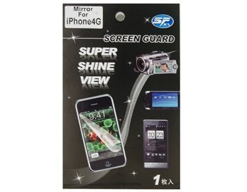Shining Mirror For Apple Iphone 4G Lcd Screen Protector / Guard Film (Transparent)