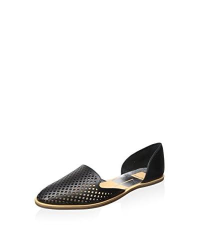 Dolce Vita Women's Laynie Flat  [Black Leather]