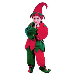6-Piece Toddler's Christmas Elf Costume Set - Size 3T-4T