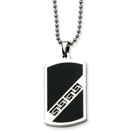 Stainless Steel Pathfinder Dog Tag Necklace 20 Inch