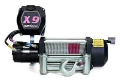 Superwinch 1902B X9 24VDC winch; rated line pull of 9,000 lb/4082 kg with roller fairlead