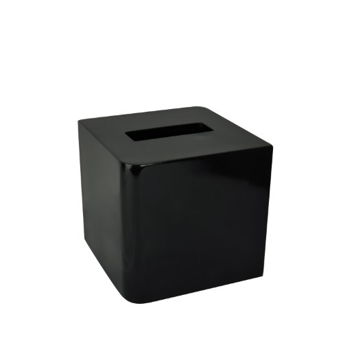 Kassatex Lacca Bath Accessories Tissue Holder, Black