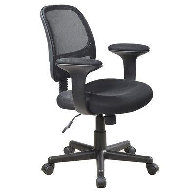 Office Star Screen Back Task Chair  T Arms  Mesh