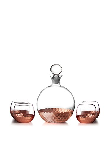 Fitz and Floyd Daphne 5 Piece Decanter Set, Copper (Bar Decanter Set compare prices)