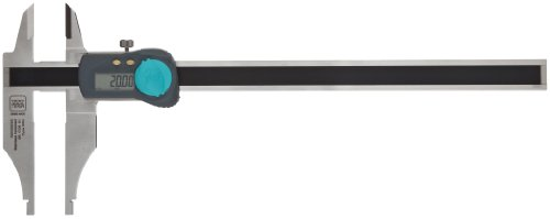 "Brown & Sharpe 00530234 Digital Caliper, Stainless Steel, Battery Powered, Inch/Metric, Nib Style Jaw, 0-20"" Range, +/-0.001"" Accuracy, 0.0005"" Resolution, Meets Ip67/Din862 Specifications back-105543"
