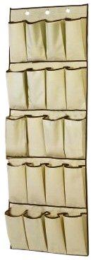 H & L Russel Organiseur à 20 compartiments Crème avec liseré caramel 48 cm x 138 cm
