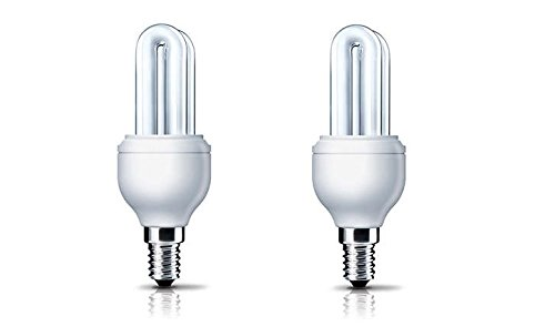Philips Genie SES E14 5 Watt CFL Bulb (Warm White, Pack of 2)
