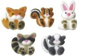 BundleOfBeauty Item#33955- Woodlands Edible Sugar Cupcake & Cake Decoration Topper-Pack of 16 - 1