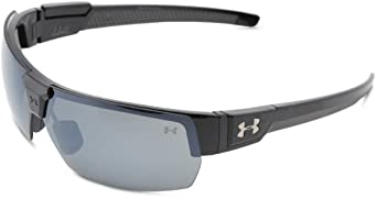 Under Armour Drive Polarized Sunglasses,Shiny Black Frame W/ Charcoal Gray Rubber W/ Gray Polarized Lens