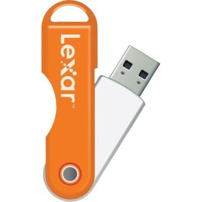 Lexar JumpDrive TwistTurn - USB FlashDrive - 64GB (Orange)