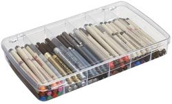 Bulk Buy: Art Bin Prism Box 6 Compartments 11.5x6.625x1.75 Translucent 1106AB (3-Pack) bulk buy martha stewart clear stamps vintage garden 3 pack