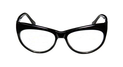 Elizabeth And James Varick Womens/Ladies Rx-able Trendy Cat Eye Full-rim Spring Hinges Eyeglasses/Eye Glasses (54-17-140, Black)