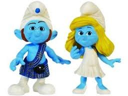 Picture of Jakks Pacific The Smurfs Movie Grab Ems Exclusive Mini Figure 2Pack Smurfette Gutsy (B005CVPWNC) (Jakks Pacific Action Figures)