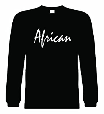 Kids Long Sleeve T-Shirt (AFRICAN) Youth Long Sleeve Tee Shirt