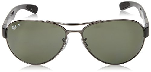 Ray-Ban RB3509 - GUNMETAL Frame POLAR GREEN Lenses 63mm Polarized