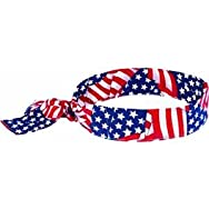 Ergodyne12303Chill-Its Cooling Bandana-STAR STRIPE COOL BANDANA