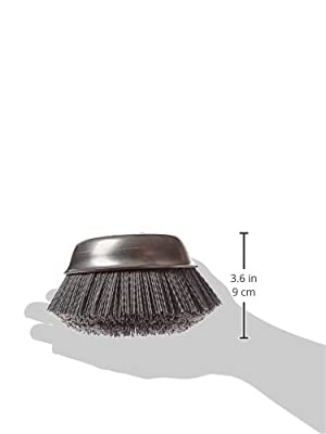 "Osborn 32131SP Abrasive Cup Brush, Silicon Carbide, 6000 Maximum RPM, 6"" Diameter, 5/8-11NC Arbor Hole, 0.040 Fill Diameter, 1-1/2"" Trim Length, 120 Grit Size"