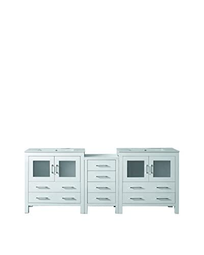 Virtu USA Dior 82 Double Bath Vanity Cabinet, White