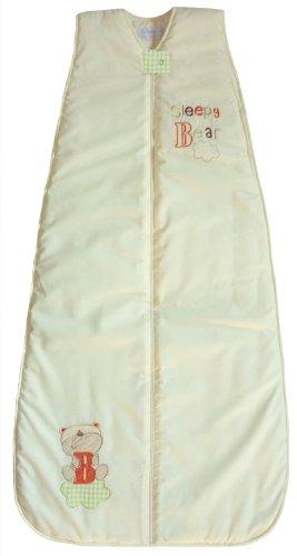 The Dream Bag Baby Sleeping Bag Sleepy Bear 100% Cotton 6-18 Months 3.5 Tog - Cream