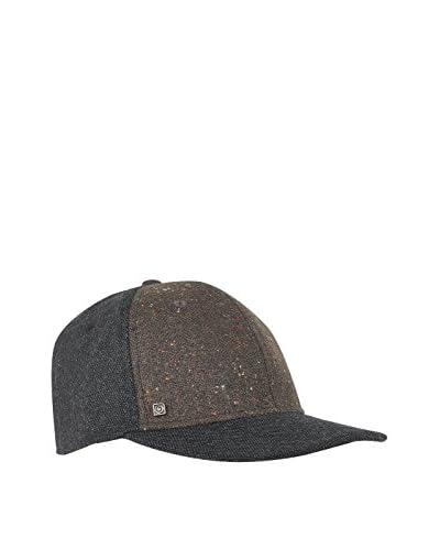Brekka Cap Dual Baseball anthrazit/lehmbraun