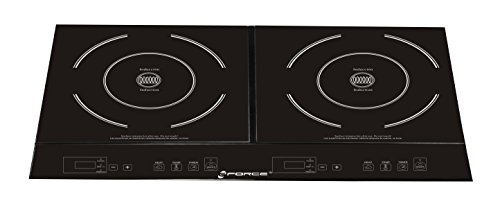 GForce GF-P1369-854 Portable Electric Double Induction Stove Burner Cooktop with Heat Function, Temperature Control & Timer - 1800 Watts (Stove Burner Electric compare prices)