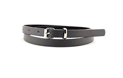 Maikun elastico da donna regolabile in pelle PU, sottile, stile Casual, con cintura in vita nero Taglia unica