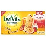 Belvita Breakfast Duo Crunch Strawberry & Live Yogurt Biscuits 253G
