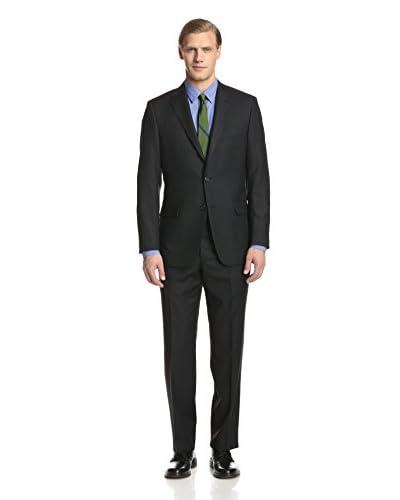 Hickey Freeman Men's Textured Stripe Suit