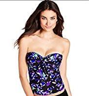 Painterly Floral Tankini Top