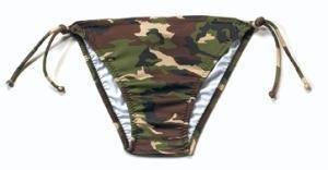 Woodland Camo String Bikini Bottom-XSMALL