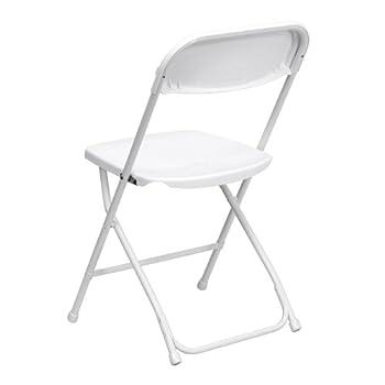 Flash Furniture 10 Pk. HERCULES Series 800 lb. Capacity Premium White Plastic Folding Chair