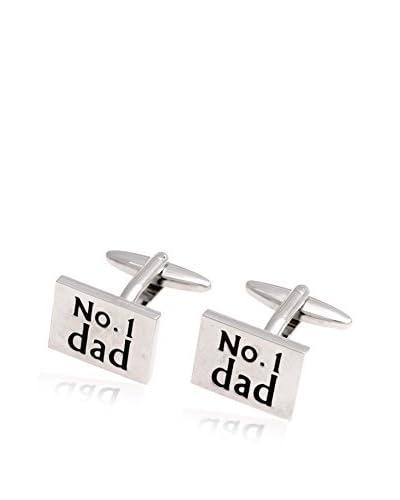 Bey-Berk #1 Dad Cufflinks, Silver