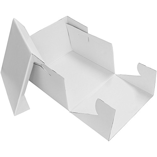 PME Boîte à gâteau carrée, Plastique, Blanc, 8-inch