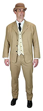 Historical Emporium Mens Cotton Blend Baxter Sack Coat $139.95 AT vintagedancer.com