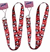 Pucca & Garu 2pc Lanyards Multi-purposes Holder - Pucca Lanyards - Red