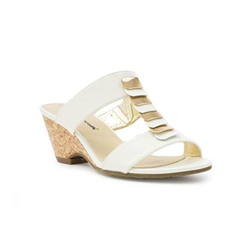 Cushion Walk-Sandali da donna, confortevole, colore: bianco, Avorio (Bianco), 42 2/3