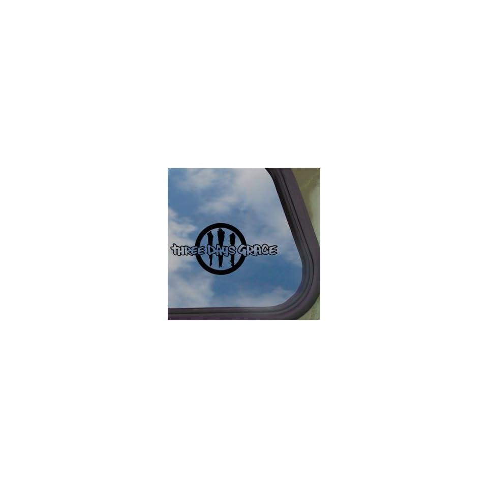 Three Days Grace Black Decal Rock Band Truck Window Sticker