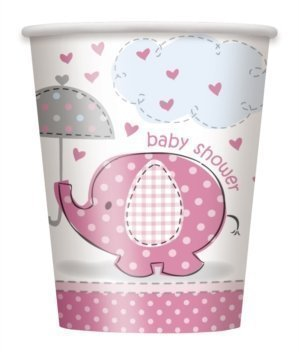 Pink Elephant Baby Shower 9 oz Hot/Cold Cups