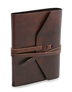 """Rustic Brown Italian Leather Journal with Tie 5""""x 7"""""""