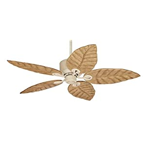 "Hunter 28537 Coronado Fan - Sand Carved wood Ceiling Fan 56"" Blade Span"