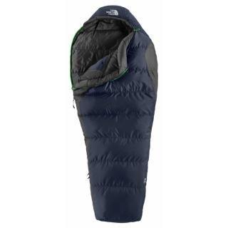 The North Face Aleutian 3S Sleeping Bag: 20 Degree Down Deep Water Blue, Reg/Right Zip