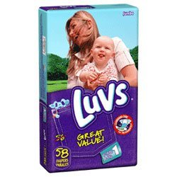 Luvs Ultra Leakguards Baby Diapers, Size 1, #10436 - 58/ Pack, 4 Packs= 232 pampers