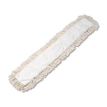 Industrial Dust Mop Head, Hygrade Cotton, 48w x 5d, White