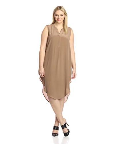 Acrobat Plus Women's Silk High-Low Maxi Dress