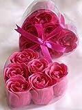 Fuchsia Rose Petal Soaps (6 Rose Soaps Per Box) 3 Boxes