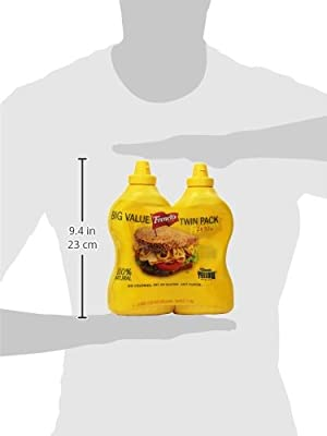 French's Classic 100% Natural Yellow Mustard Pack of 2 30 oz Bottles by French's