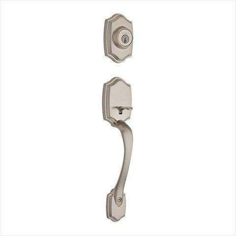 Kwikset Belleview Single Cylinder Handleset Less Interior Pack In Satin Nickel front-617188