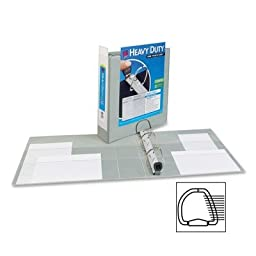 Averyamp;reg; - Nonstick Heavy-Duty EZD Reference View Binder, 2amp;quot; Capacity, Gray - Sold As 1 Each - Extra-wide cover for use with top-loading sheet protectors and extra-wide dividers.