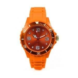 Montres couleurs tendances - MIXTES - 24 COLORIS ET PLUSIEURS TAILLES - Pochette cadeau LovaLuna offerte - Par LovaLunaTM - Petit Modèle - Orange Taille S (cadran 3,8 cm)